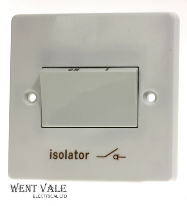 Crabtree Capital Series 4000 - 4017 White Moulded 6ax 3 Pole Isolating Switch